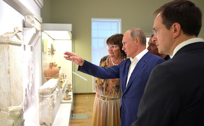President Putin at the Tauric Chersonese Museum and Reserve.