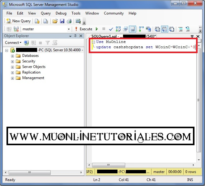 Visualizando la query en el SQL Server 2008