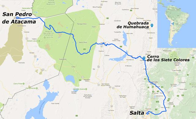 De Salta, en Argentina, a San Pedro de Atacama, en Chile