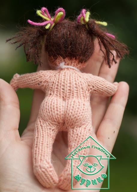 авторская игрушка, вязаная игрушка, вязание спицами,  куколка, детям, подарки любимым, Мурико