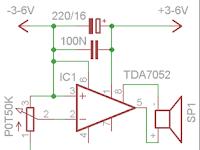 Skema Amplifier 6 volt Dengan TDA 7052