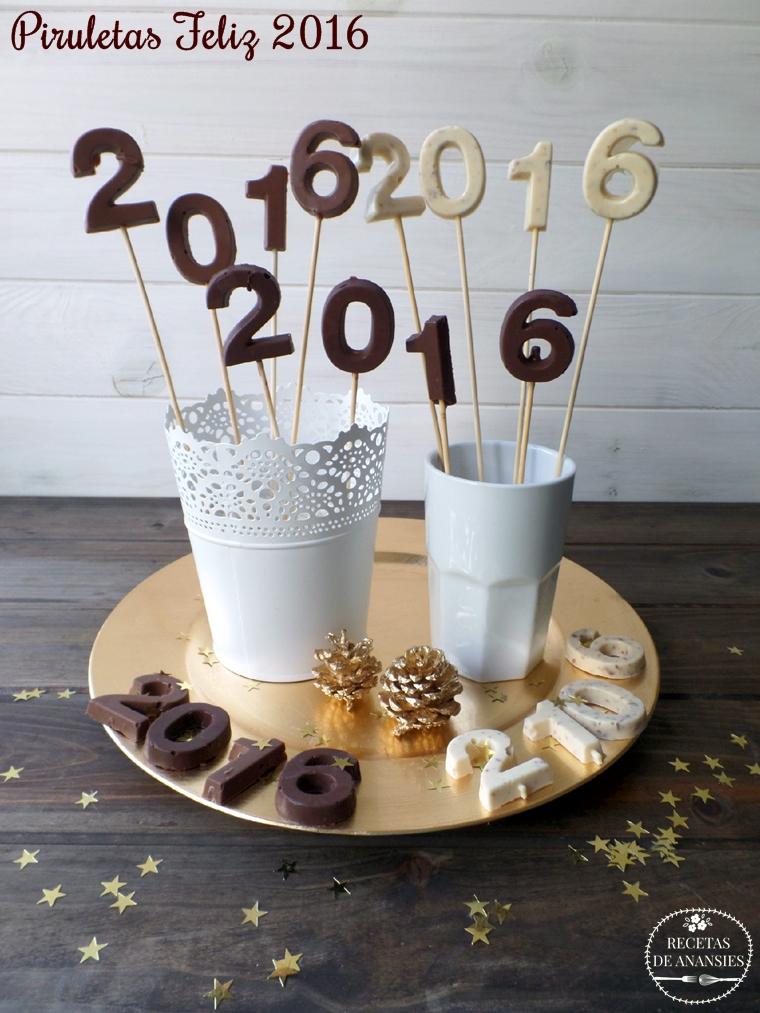 Piruletas de chocolate con almendras crujientes y pétalos de sal
