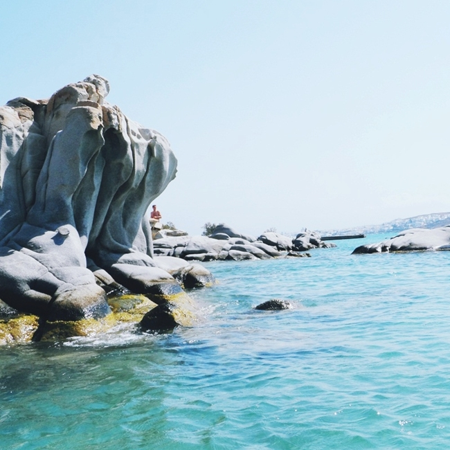 Jelena Zivanovic Instagram @lelazivanovic.Glam fab week.Kolimbithres beach,Paros island,Cyclades Greece.
