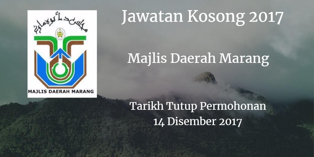 Jawatan Kosong MdMarang 14 Disember 2017