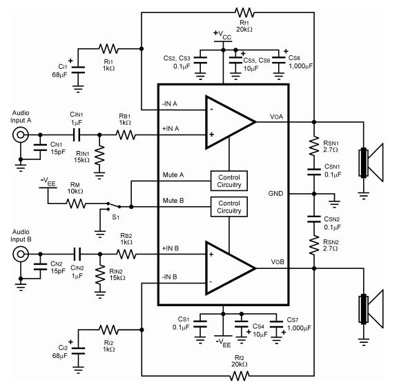 AmplifierCircuits.com: Stereo Amplifier