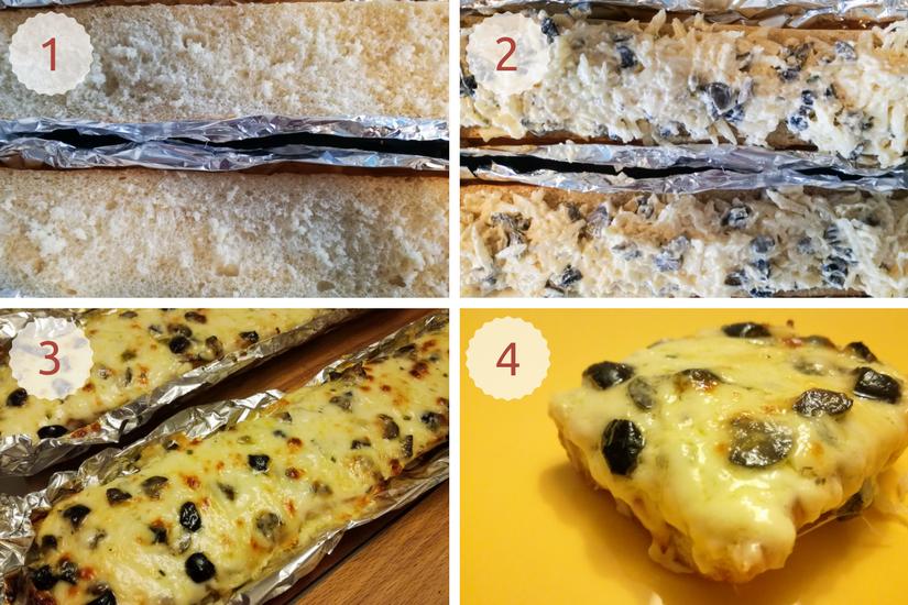 Pão de alho com azeitonas_passo-a-passo