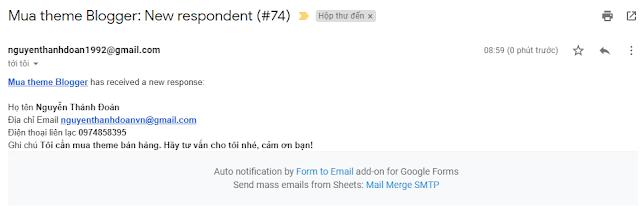 Thiết lập nhận thông báo đơn hàng Google Form bằng 2 cách
