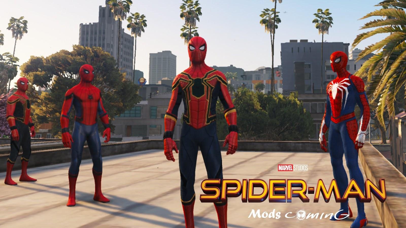 gta5 spiderman ps4 mod