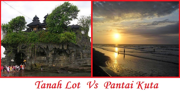Tempat Wisata Tanah Lot dan Pantai Kuta Bali