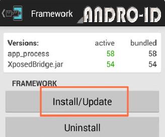 Cara Instal Xposed Framework Android OS Kitkat