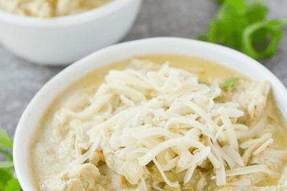 Keto White Chicken Chili Recipe