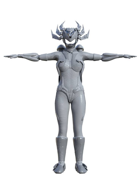Cyborgations Vision Wings Outfit for Genesis Three and Eight Female