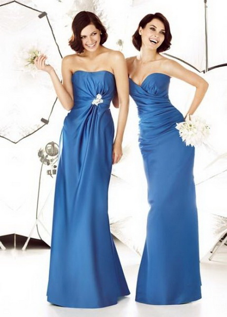 Vestidos de damas de honor azul