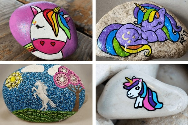learn how to draw a unicorn or paint a unicorn on a rock   #ilovepaintedrocks #rockpainting #paintedrocks #stonepainting #paintedstones #rockpaintingideas