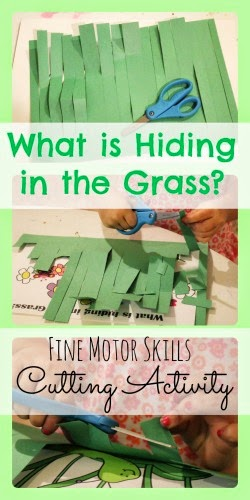 In the Tall Tall Grass Fine Motor  Skills Cutting Activity
