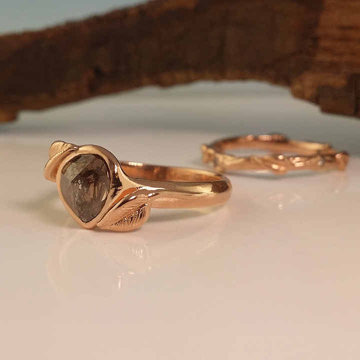 One of a kind wedding ring sets