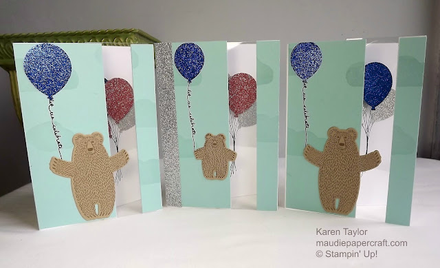 Stampin' Up! Bear hugs and balloon card