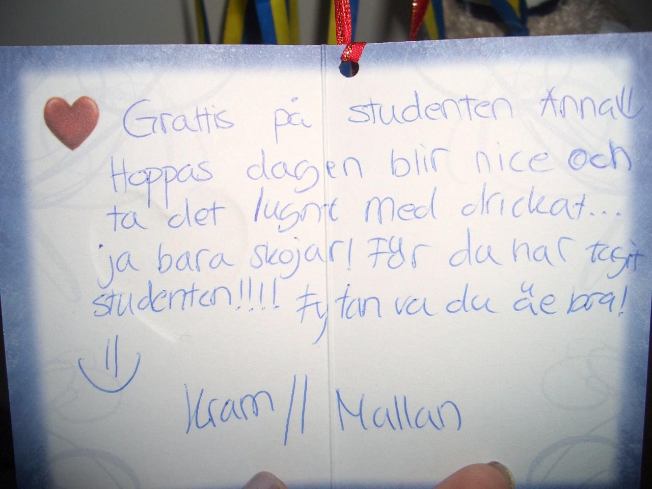 grattis text till studenten A piece of Sundsvall & Göteborg: ' 120611. ' Bilder & text om  grattis text till studenten