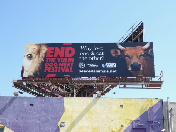 End Yulin Dog Meat Festival billboard
