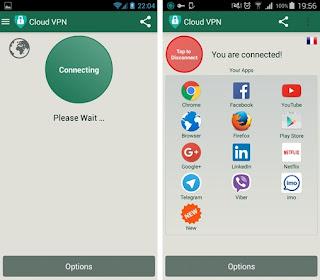 Cloud VPN – Aplikasi Untuk Menyembunyikan IP Android