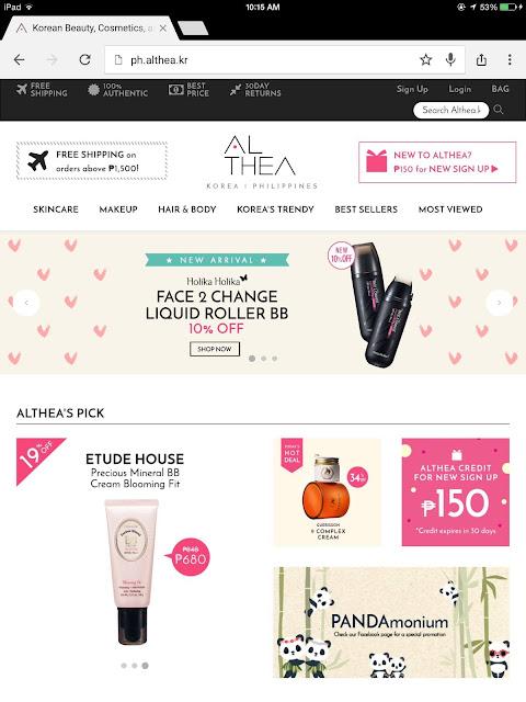 Althea Korea Philippines Shopping