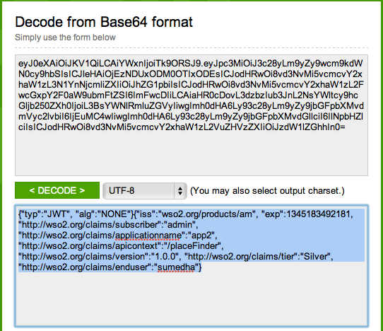 Using JWT to send application user details to API