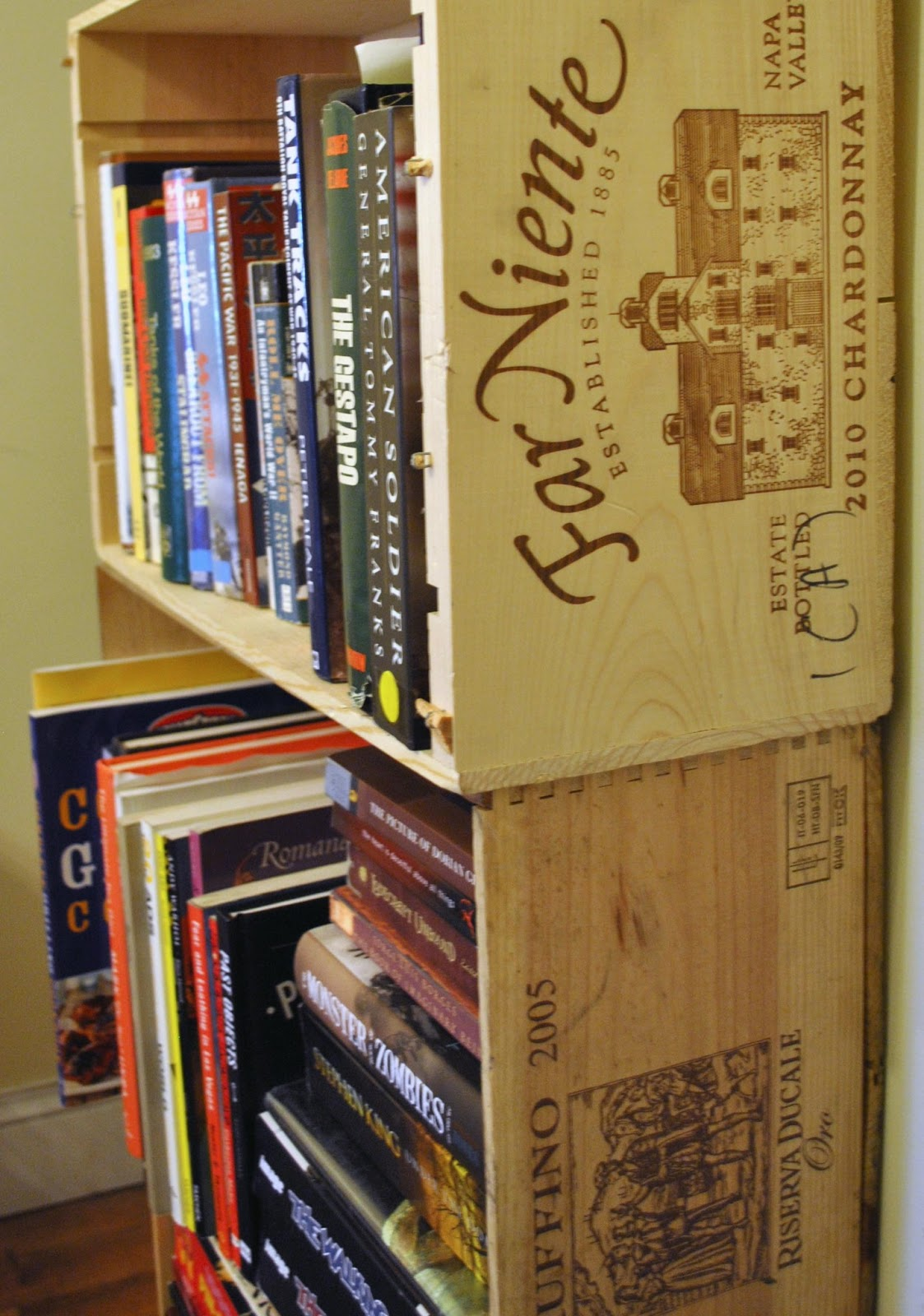 CRAFT & DESTROY: Storage ideas: Wine crates