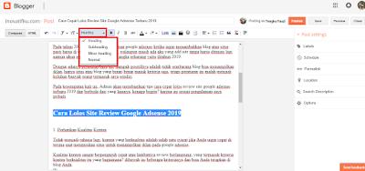 cara lolos review site google adsense 2019