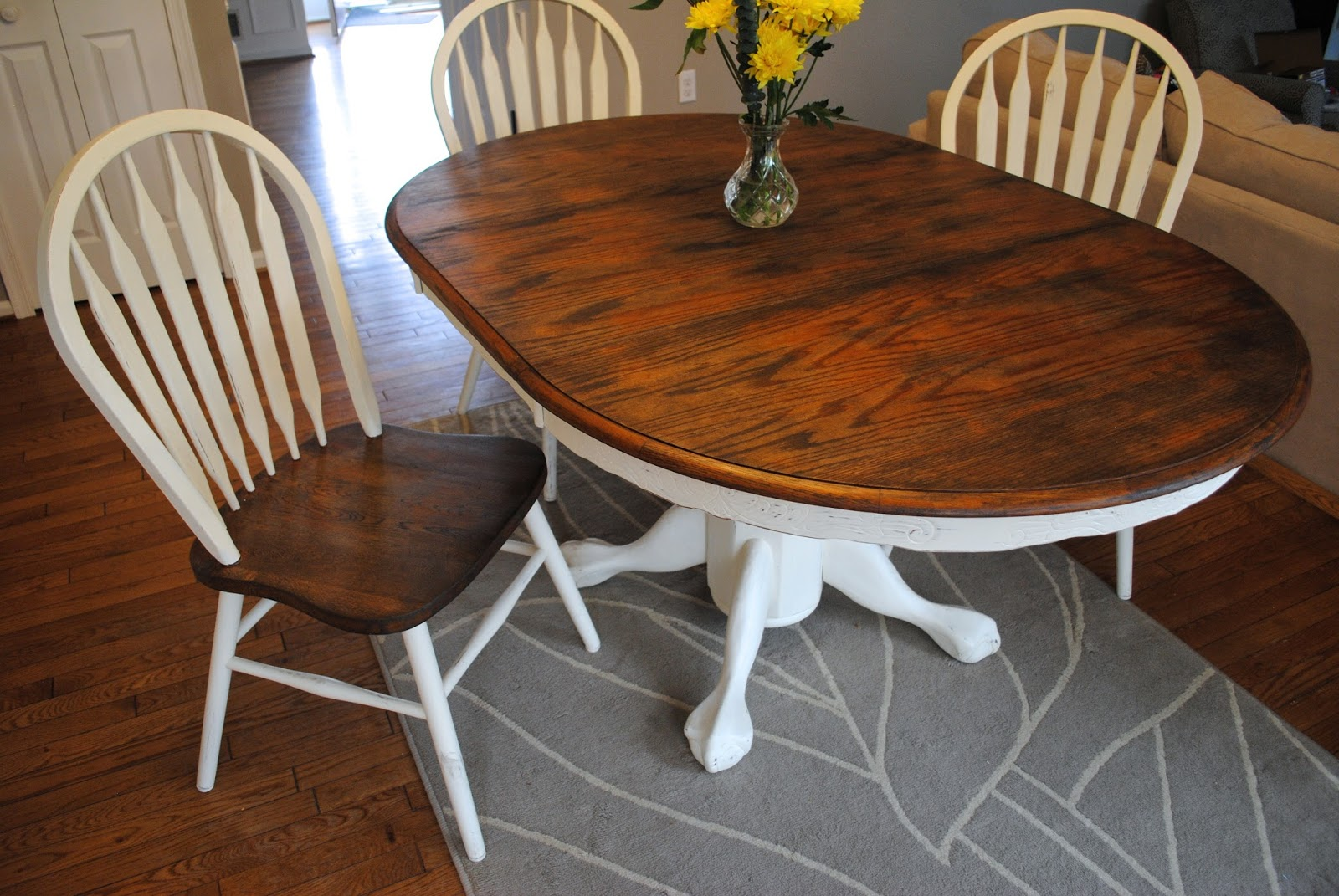 shabby chic re finished dining set
