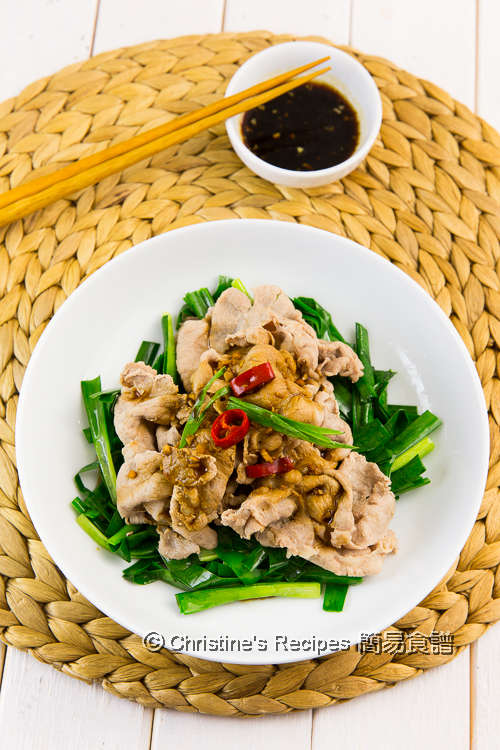 蒜泥醬肉片 Boiled Pork Slices with Garlic Sauce02