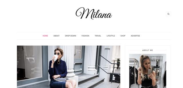 Milana Fashion Responsive Blogger Templates