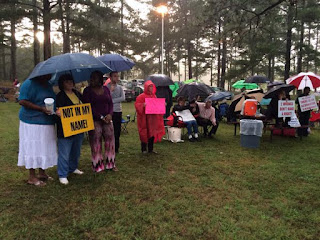 Protesting Kelly Gissendaner's execution at Georgia Diagnostic and Classification Prison in Jackson, Ga, Sept. 30, 2015.