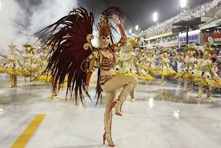 Barbara Evans de carnaval rio