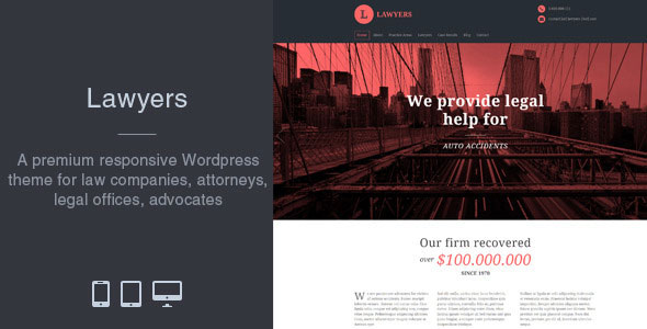 Free Download Lawyers - Responsive Business Wordpress Theme