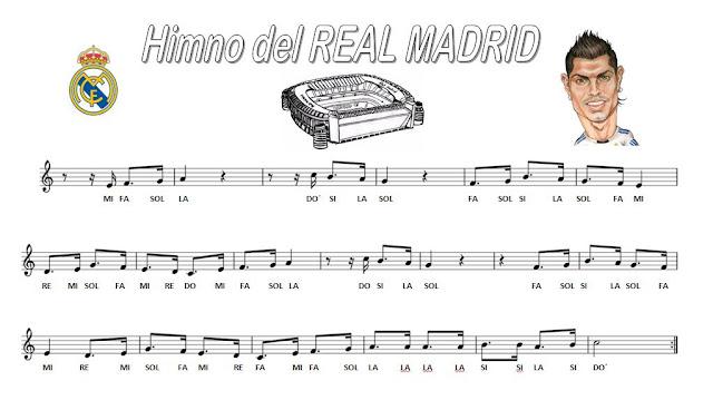 Resultado de imagen de PARTITURA PARA LA FLAUTA DE REAL MADRID
