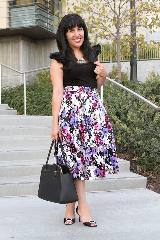Floral Convertible Midi Skirt Spring Trend
