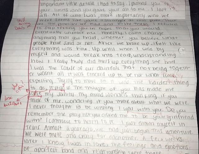 This Guys Cheating ExGirlfriend Sends Him An Apology Letter