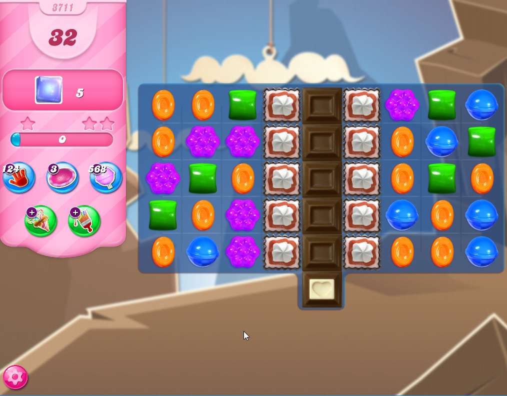 Candy Crush Saga level 3711