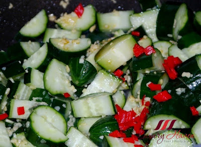 stir fried japanese cucumber