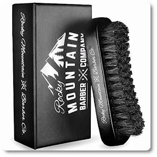 13 Rocky Mountain Barber Company Boar Hair Beard Brush for Men