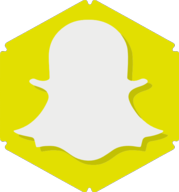 snapchat hexagon icon