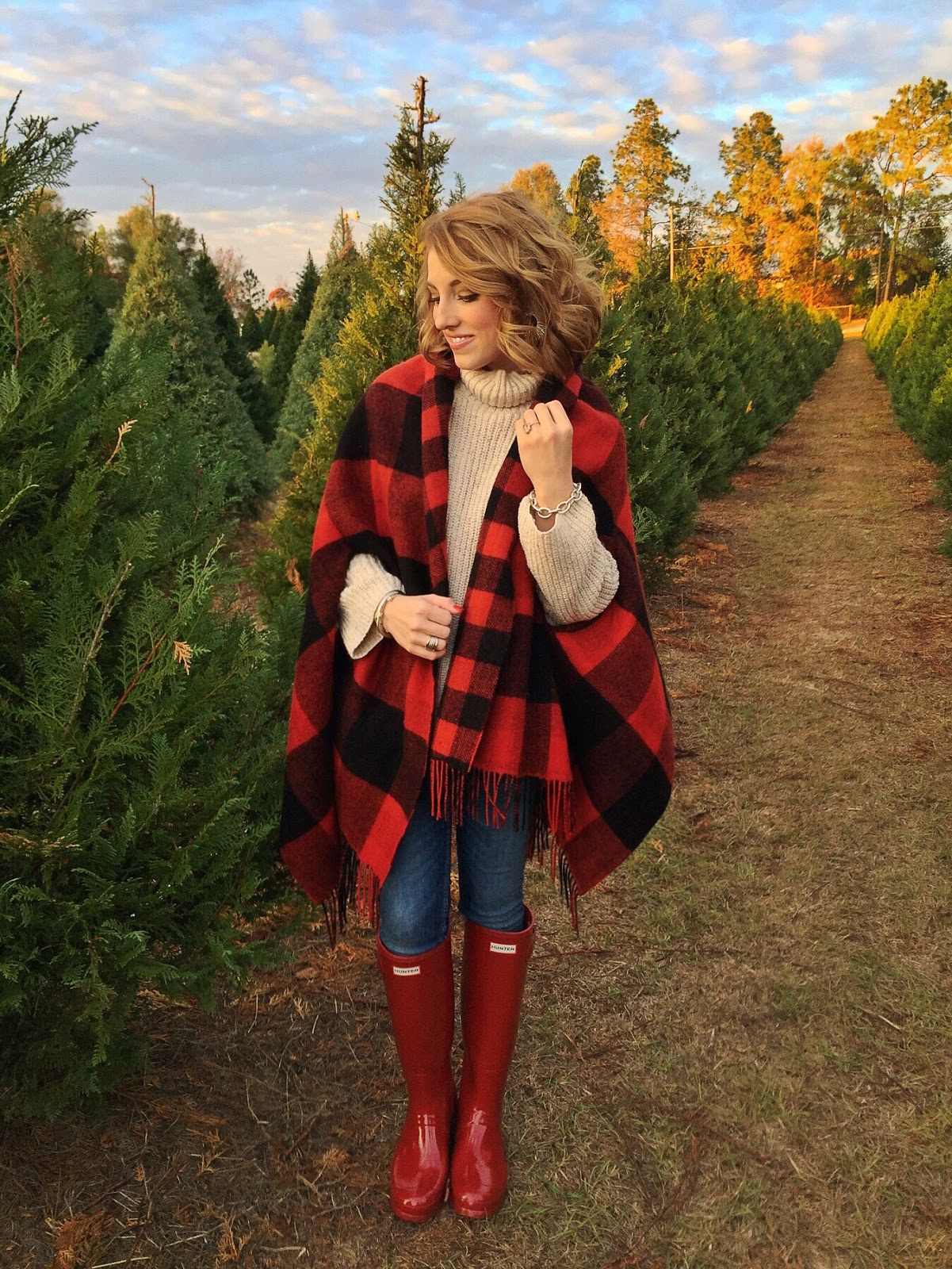 Madewell Buffalo Plaid Cape - Something Delightful Blog