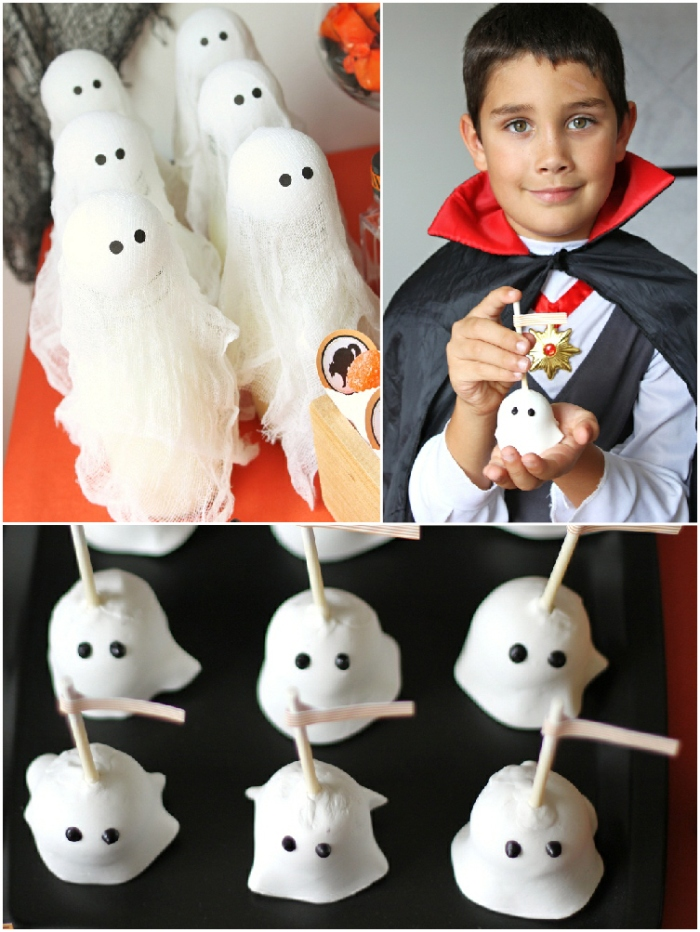 Halloween DIY Kid's Dessert Table - via BirdsParty.com