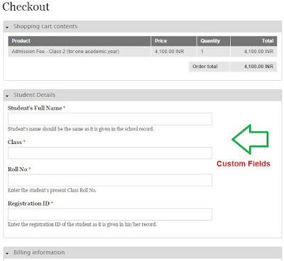 custom fields display in drupal commerce checkout