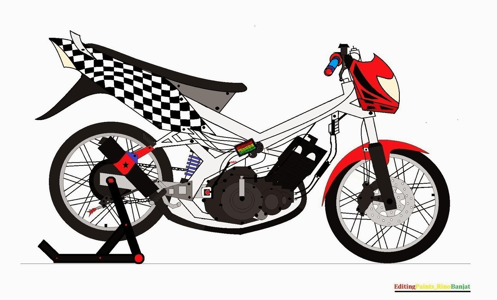 Download Koleksi 99 Gambar Motor Ninja Versi Kartun Terbaru Dan