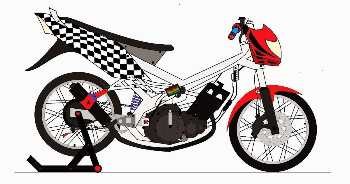 41 Top Terbaru Gambar Motor Drag Mio Animasi