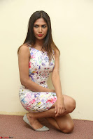 Nishi Ganda stunning cute in Flower Print short dress at Tick Tack Movie Press Meet March 2017 105.JPG