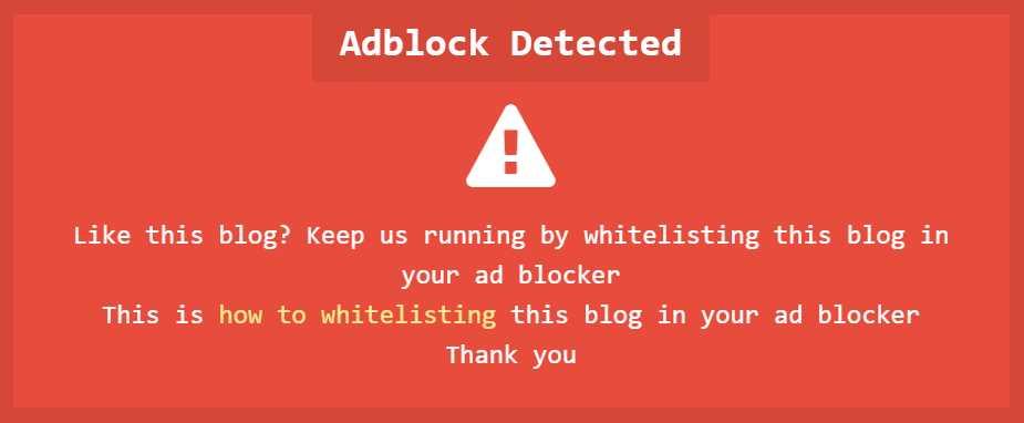 Cara Mudah Mengatasi Popup AdBlocker Yang Menggangu
