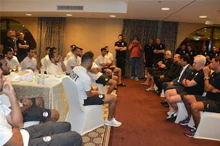 وزير الشباب والرياضة يجتمع بلاعبي المنتخب المصري قبل كأس أمم إفريقيا