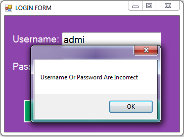 vb.net inventory system - login form error
